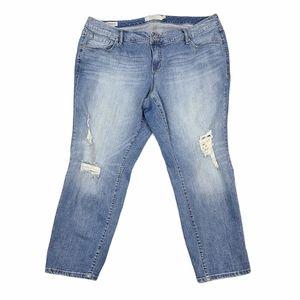 Torrid Distressed Blue Boyfriend Jeans Size 20